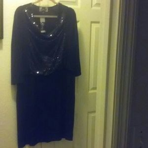 Cowl Neck Sequined Dress